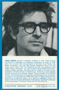 Armstrong's Last Goodnight by John Arden (Methuen Modern Plays) (back cover) (image)