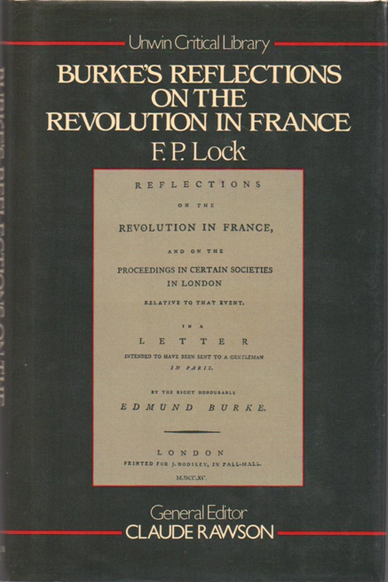Burke's Reflections on the Revolution in France - Locke (Unwin Critical Library) (image)