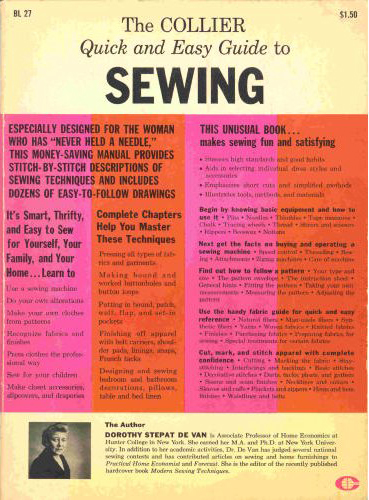 Collier Quick and Easy Guide to Sewing (image)