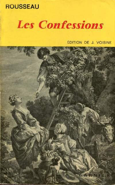 Les Confessions -Rousseau (Classiques Garnier) (image)