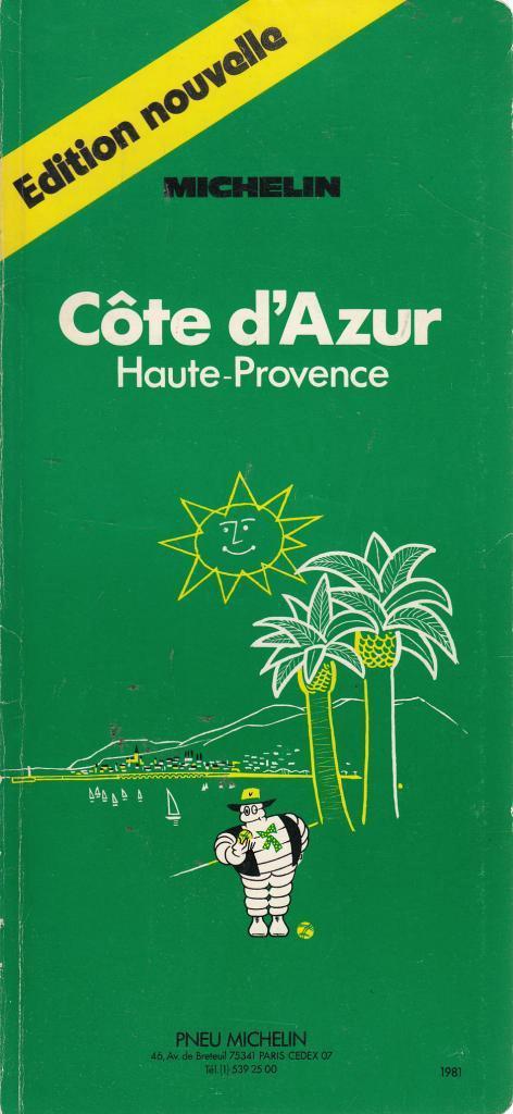 Côte d'Azur - Haute-Provence (Les guides verts) (Michelin) (image)