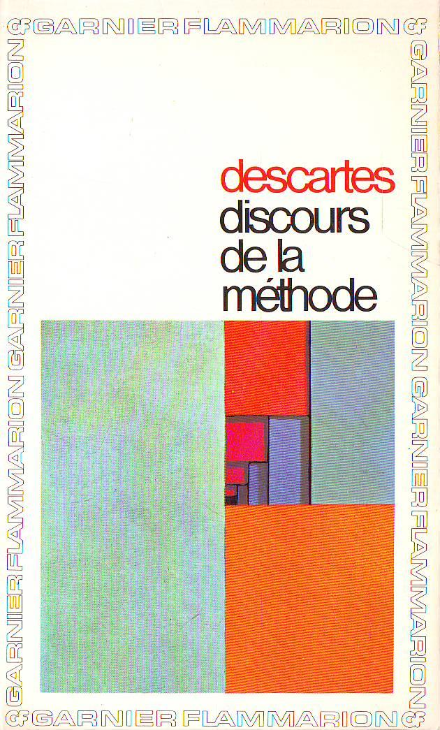 Discours de methode (Collection GF, no. 109) (image)
