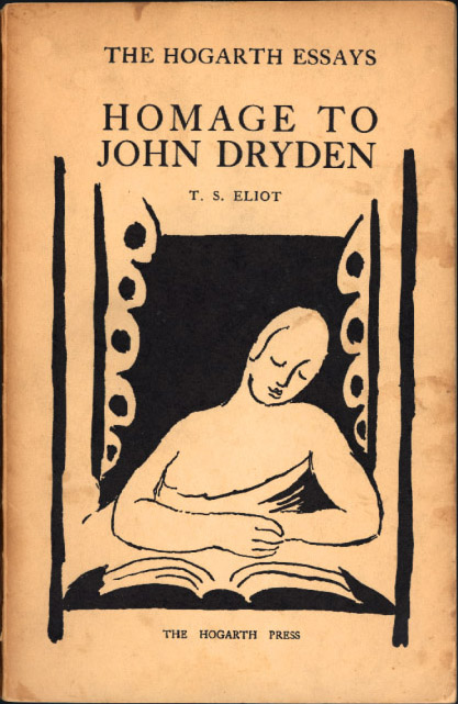 Hommage to John Dryden by T. S. Eliot (Hogarth Essays) (Hogarth Press) (image)