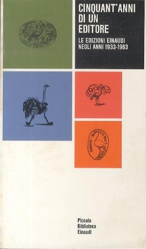 Cinquant'anni di un editore: le edizioni Einaudi negli anni 1933-1983 (image)