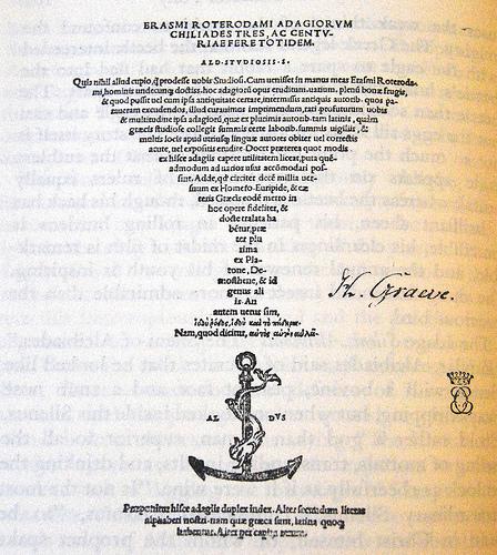 Erasmus, Adages (Aldine Press, 1508) (image)