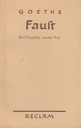 Faust II (Goethe) (Reclams Universal Bibliothek) (image)