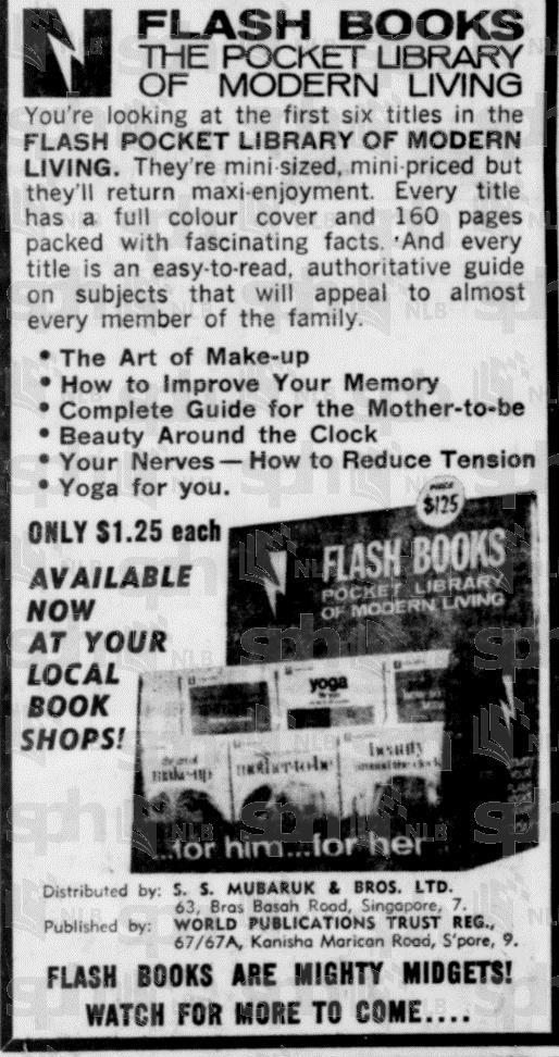 Flash Books advertisement, Straits Times, 1968 (image)