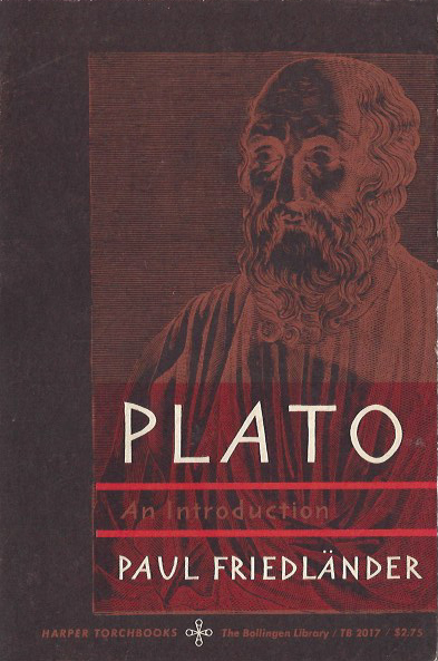 Plato: An Introduction - Paul Friedländer. 1964. TB 2017. (image)