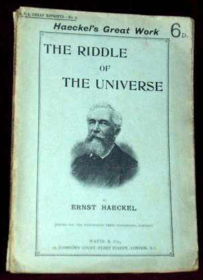 The Riddle of the Universe (by Prof. Ernest Haeckel) (R. P. A. Reprints) (image)
