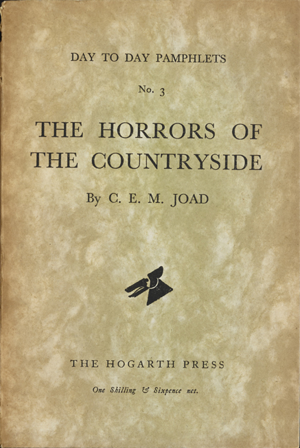 The Horrors of the Countryside - Joad (Day to Day Pamphlets/Hogarth Press) (image)