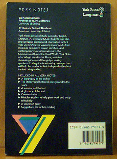York Notes on The Iliad - Homer) (back cover) (image)