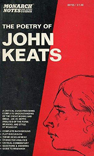 Poetry of John Keats (Monarch Notes) (image)