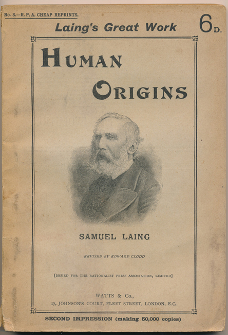 Human Origins (by Samuel Laing) (R. P. A. Reprints) (image)