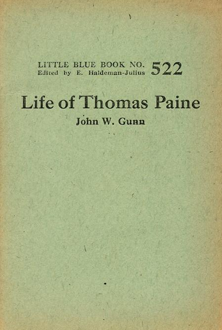 Life of Thomas Paine (Little Blue Books) (image)