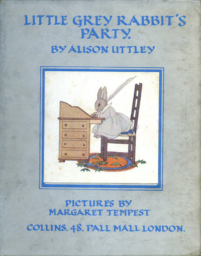 Little Grey Rabbit's Party (by Alison Uttley) (Collins, 1936) (image)