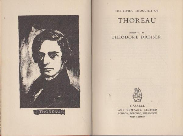 The Living Thoughts of Thoreau (Theodore Dreiser, ed.) (Cassell, 1946) (image)