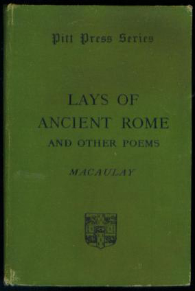 Macaulay - Lays of Ancient Rome (Pitt Press Series/CUP) (image 1)