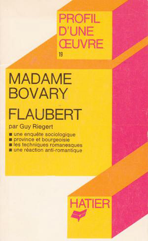 Madame Bovary (Profile d'une oeuvre) (Hatier) (image)