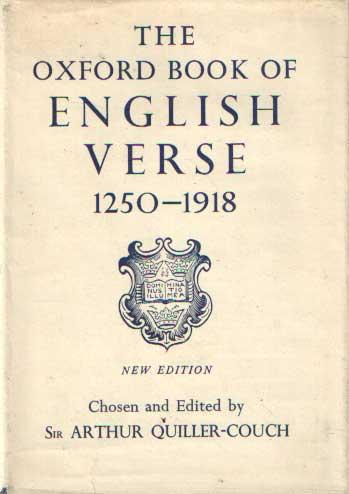 The Oxford Book of English Verse, A.D. 1250-1918 (OUP, 1961) (image)