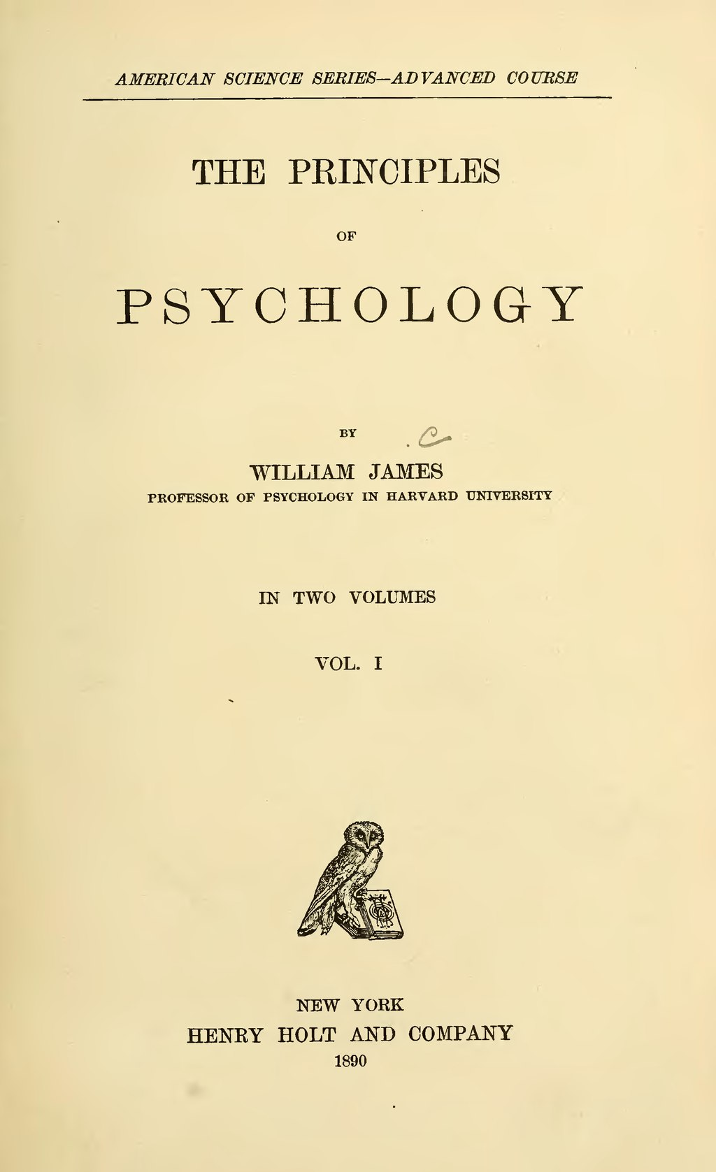 Psychology - James (American Science Series/Henry Holt) (image 1)