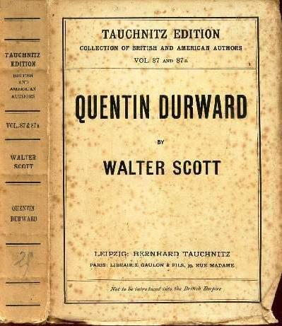 Quentin Durward (Tauchnitz) (image)