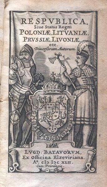 Respublica, sive status regni Poloniae, Litvianiae, Prussiae, Livoniae, etc. diversorum autorum (Elzivir, 1642) (image)