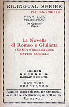 La Novella di Romeo e Giulietta (Bilingual Series) (Harrap/Brentano's) (image)
