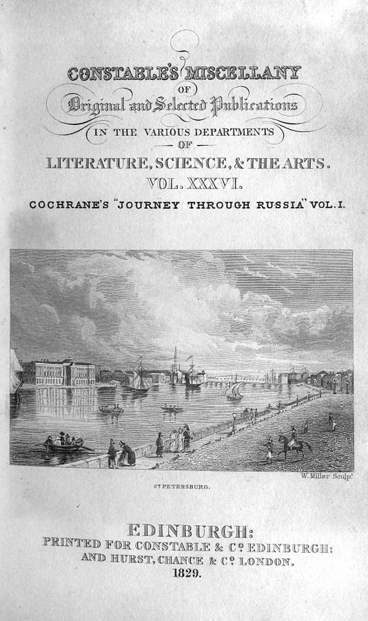 Russia and Siberian Tartary (Cochrane) (Constable's Miscellany) (image)