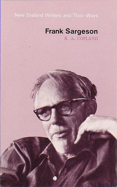 Frank Sargeson (by R. A. Copland) (O.U.P) (New Zealand Writers and their Work) (image)