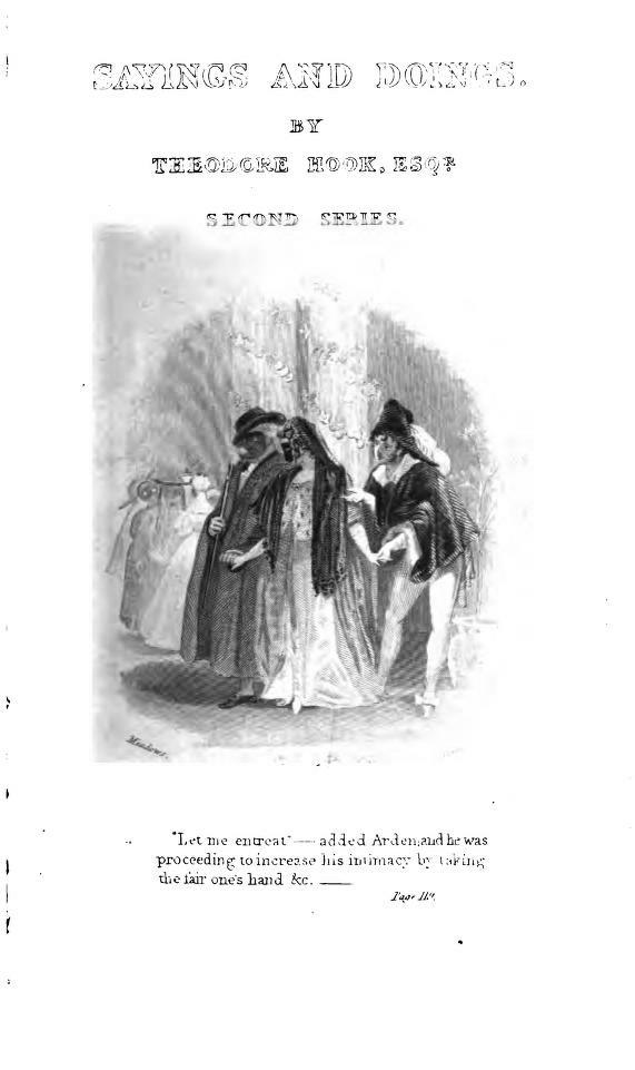 Sayings and Doings - Hook (Colburn's Modern Novelists) (image)