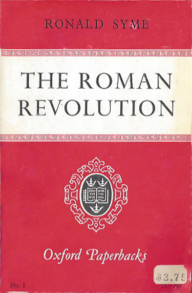 The Roman Revolution - Syme (Oxford Paperbacks) (image)