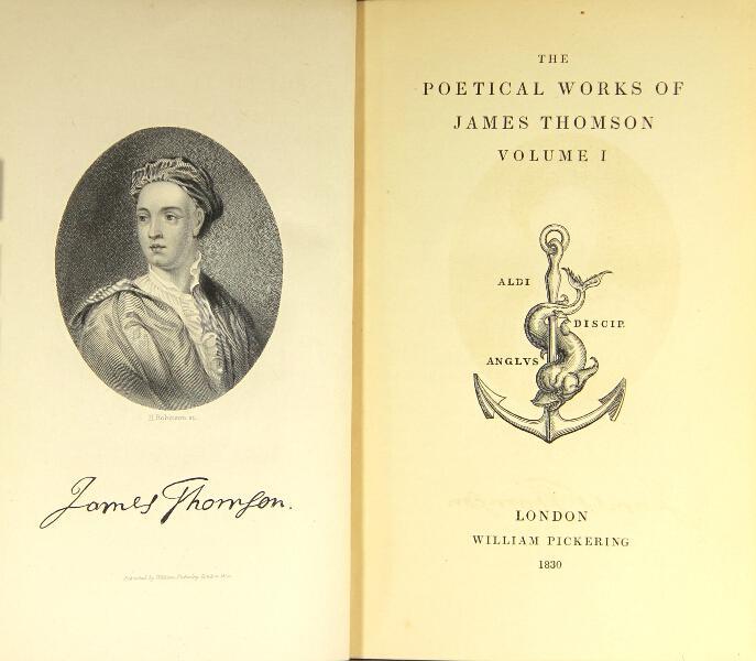 Poems of James Thomson (Aldine Poets/W. Pickering) (image)
