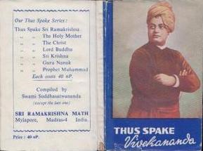 Thus Spake Vivekananda (Sri Ramakrishna