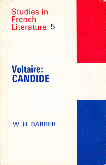 Voltaire: Candide by W. H. Barber (Studies in French Literature) (E. Arnold) (image)