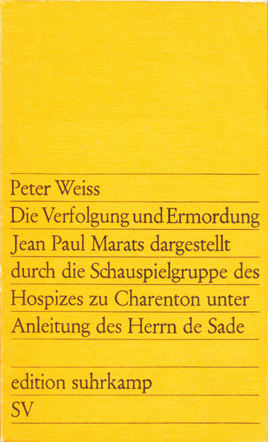 Die Verfolgung und Ermordung Jean Paul Marats - Weiss (Edition Suhrkamp) (image)