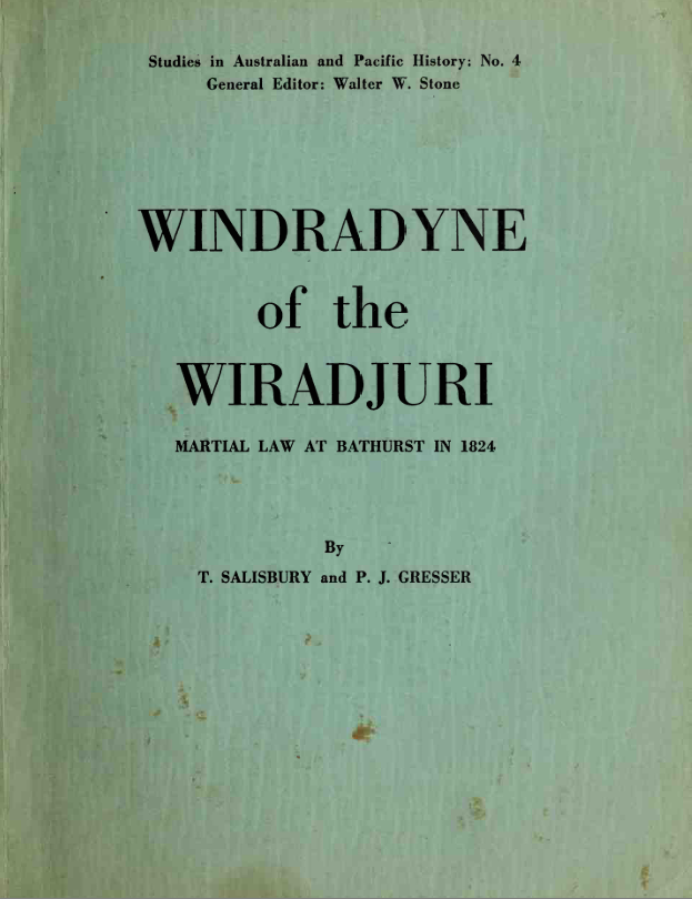 Windradyne of the Wiradjuri  - Salisbury and Gresser (Wentworth Press) (image)